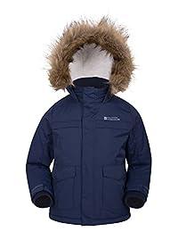 Mountain Warehouse Samuel Kids Parka Jacket - Warm Winter Jacket Navy 11-12 years