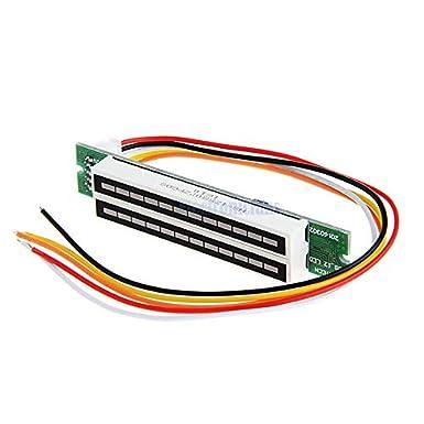 Dual 12 Stereo LED Level indicator DIY Kit VU Meter lamps Light Speed Adjustable