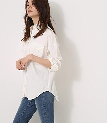 雄弁老人逆に【AZUL BY MOUSSY】シンプルミリタリーシャツ