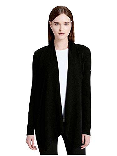 Calvin Klein Long Sleeve Cardigan - Calvin Klein Women's Performance Drape Front Tunic Black Small