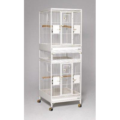 Multi Vista Bird Cage Color: Pearl White
