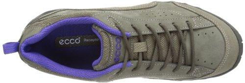 Ecco Ecco Sierra LS Warm Grey/Iris Damen 851513-58053 - Zapatos de cuero nobuck para mujer Gris (Grau (WARM GREY/WARM GREY/IRIS))