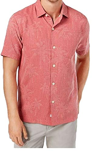 Tommy Bahama Digital Palms Silk Camp Shirt (Color: Forever, Size XXL)