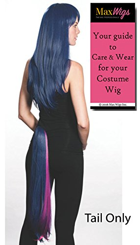 Twilight Sparkle Tail ONLY Color Twilight Blue - Enigma Wigs My Little Pony Twilite Spark Friendship Brony Bundle with Wig Cap, MaxWigs Costume Wig Care -