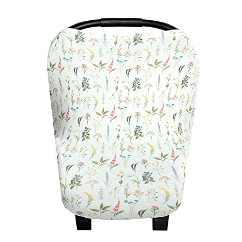 Baby Car Seat Cover Canopy and Nursing Cover Multi-Use Stretchy 5 in 1 GiftAspen by Copper Pearl