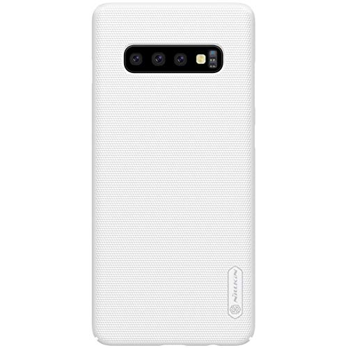 Samsung S10 Plus Case, Nillkin Frosted Shield Hard Slim Case Back Cover [Support Wirelesss Charge] for Samsung Galaxy S10 Plus - White