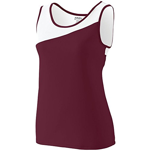 Augusta Sports Ladies Accelerate Jersey, Maroon/White, X -