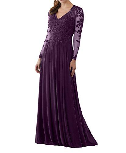 Spitze mia Abendkleider Linie La A Promkleider Neu 2018 Langes Brautmutterkleider Traube Brau Abschlussballkleider F0x0X