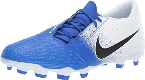 Nike Men's Phantom Venom Club FG Soccer Cleat White/Black/Racer Blue Size 7 M US