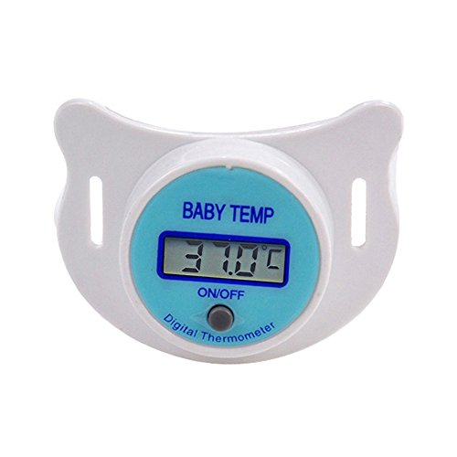 - Baby Thermometer,Digital Soft Pacifier Thermometer LCD Display Safe Soother Child Nipple Temperature Measure Tools for Infant Toddlers (Blue-℃)