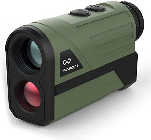 Wosports Hunting Rangefinder, Laser Speed Measure Range Finder, 6X Magnification High Accuracy Long Horizontal Distance for Hunting Speed, Scan and Normal Measurements