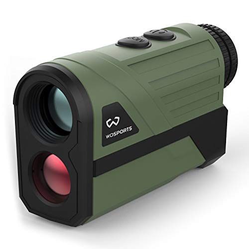 Wosports Hunting Rangefinder, Laser Speed Measure Range Finder, 6X Magnification/High Accuracy/Long Horizontal Distance for Hunting Speed, Scan and Normal Measurements (Best Long Range Rangefinder)