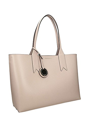 Tote Pouch Emporio Money With Money With Shopping Shopping Tote Women's Leather Pink Armani Pouch x6q6St