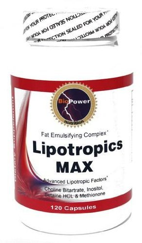 Chromium L-carnitine (Lipotropics Max # Energy Lipotropics Fat Burner with Choline Bitartrate, InositolBetaine HCL, Methionone, Gymnema SylvestrisGuarana, L-Carnitine, Chromium Polynicotinate 120cap by BioPower Nutrition)