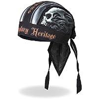 """Authentic Bikers Premium Headwraps, SKULL FACE, """"Legendary Heritage"""""""