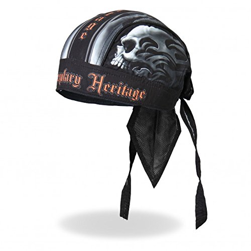 Authentic Bikers Premium Headwraps, SKULL FACE, Legendary Heritage - High Quality HEADWRAP