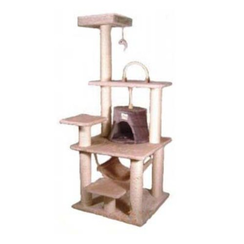 Go Pet Club Cat Tree – Beige – 65 in., My Pet Supplies