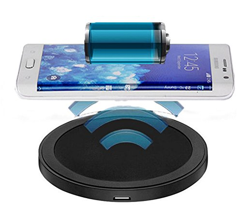 Padgene Portaable Ultra Slim Qi Wireless Charging Pad for iPhone 6 Plus 5.5 inch + Qi Receiver, BLACK