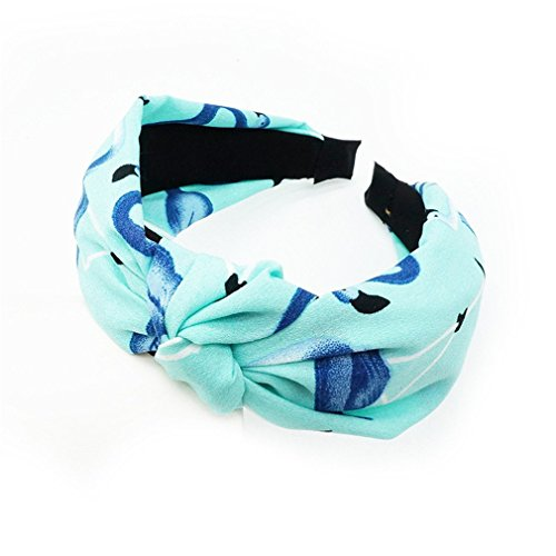 (Cute Knot Plastic Hairbands Headbands For Women Girls Fabric Floral Print Hairband Wide Hair Band Accessories Style 9)