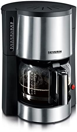 Severin KA 4312 Cafetera, 1000 W, 1 Liter, Gris mate y negro ...