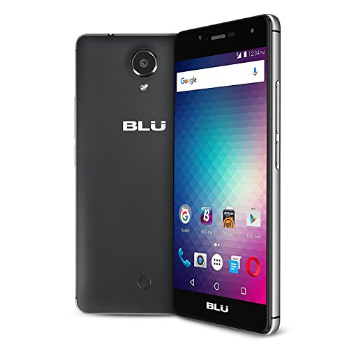 BLU R1 HD (16GB, 2GB RAM) 5.0'' HD, 4G LTE GSM DUAL SIM Unlocked Smartphone (US Warranty) Black by BLU