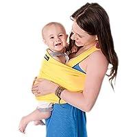CuddleBug Fular Portabebés - Garantía de Por Vida - Gris Portador de Bebé - Envío Gratuito- Todo Natural Portador de Bebé - Talla Única Baby Wrap – Fular Portabebés - Gris Baby Carrier - Garantía de 30 Días