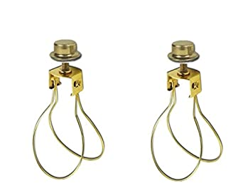 Upgradelights 2 Lamp Shade Bulb Clip Adapters Clip On