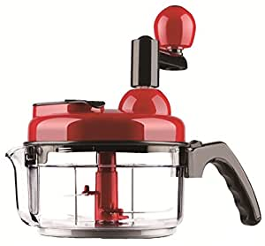 Manual Food Processor 4 Cup Hand Food Chopper Blender Mixer Small Salad Spinner for Vegetables Fruits Nuts Onions Cheese Meat