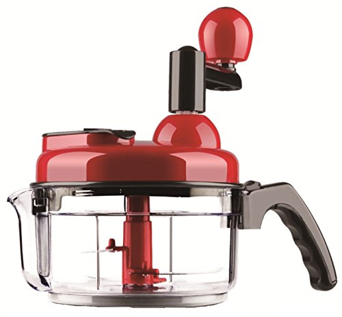SHINKODA Manual Food Processor 4 Cup Hand Chopper Blender Mixer Small Salad Spinner for Vegetables Fruits Nuts Onions Cheese Meat
