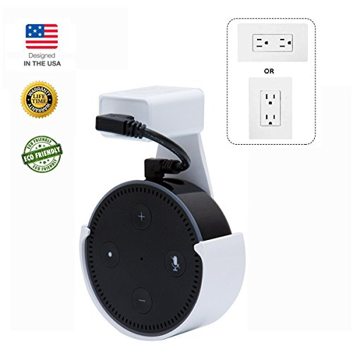 CloverTale Home Outlet Wall Mount Holder for Alexa Echo Dot, Bose, Anker, Home Mini round speakers Accessories