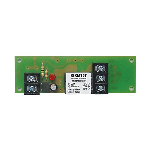 Functional Devices (RIB) RIBM12C Panel Relay 4.00x1.25in 15Amp SPDT - Devices Functional