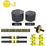 AOLI-Dumbbell-Set-Allenamento-con-pesi-per-bicipiti-da-palestra-per-manubri-Bilanciere-Set-Allenamento-a-casa-Allenamento-di-bodybuilding-Allenamento15kg
