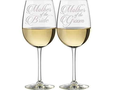 Mother of the Bride & Mother of the Groom Wine - Party Glasses Personalized Wedding