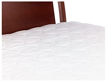 Springs Industries Basic Bedding Serta Almohadilla de colchón de Lujo de 200 Hilos, Blanco, Matrimonio Doble: Amazon.es: Hogar