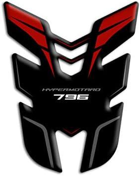 Prot/ège-r/éservoir en r/ésine 3D compatible avec Ducati Hypermotard 796 GP-697 Blanc