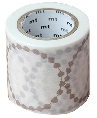 Kamoikakoshi masking tape mt Mina perhonen tambourine grande · silver 48mm × 10m MTMINA31