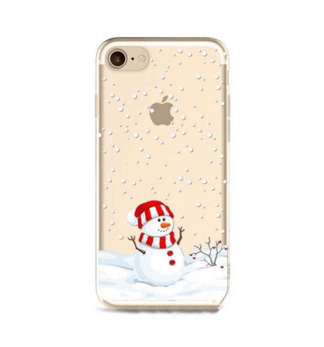 iPhone 6 Case, iPhone 6S Case,Christmas Gift Snowman Ultra Thin Clear Soft TPU Bumper Protective Back Case Anti-scratch Cover for Apple iPhone 6 iPhone 6S (Snowman Soft)