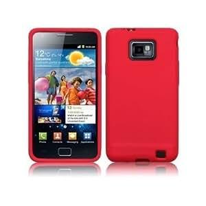 Accessory Master 5055403805610 - Funda para Samsung Galaxy S2 i9100, color Rojo