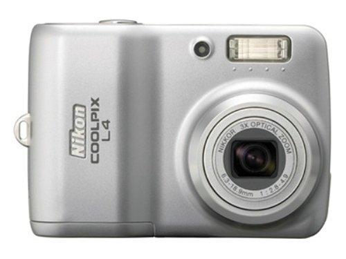Nikon Coolpix L4 4MP Digital Camera with 3x Optical Zoom
