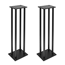 Pyle PSTND14 Dual Heavy-Duty Steel Support Bookshelf / Monitor Speaker Stand Mounts (Pair)