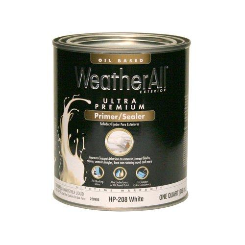 Ext Oil Stain (True Value HP208-QT Premium Weatherall Exterior Oil Based Primer, 1-Quart)