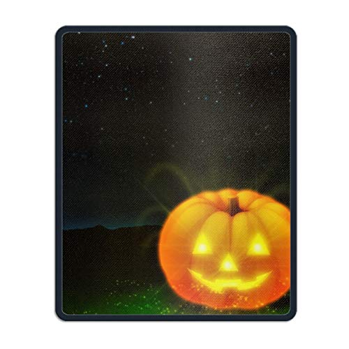 Personalized Rectangle Mouse Pad, Printed Holiday Halloween Jack-o-Lantern
