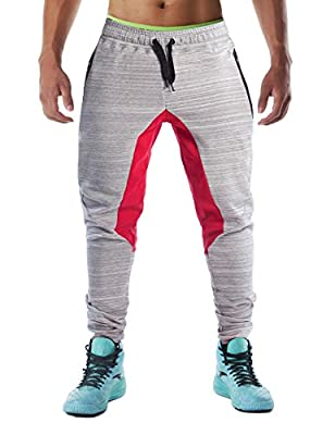 FLYFIREFLY Men's Gym Sport Pants Bodybuilding Workout Running Jogger