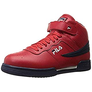 Fila Men's f-13v lea/syn Fashion Sneaker, Red Navy/White, 9 M US