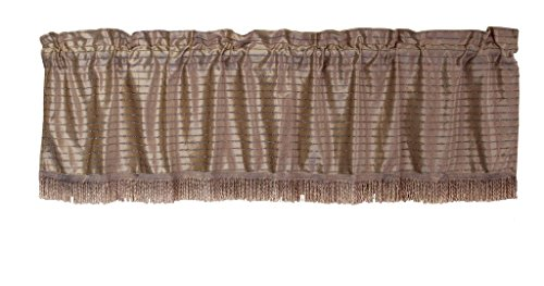 HomeCrate Luxurious Velveteen Vintage Collection Window Valance, in (Luxurious Eyelet Trim Top)