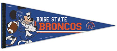 Mickey Disney 12 Mouse (WinCraft Boise State Broncos Premium Felt Pennant, Disney Mickey Mouse Edition, 12 x 30 inches)