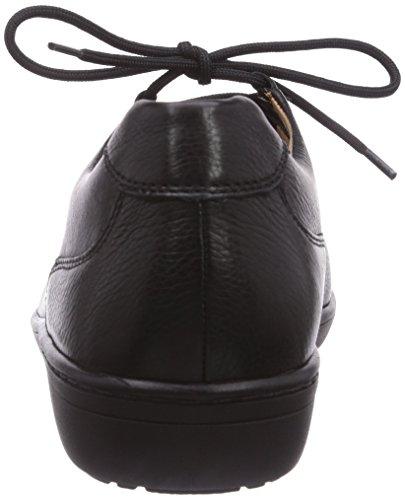 Ganter ANKE, Weite G - Zapatillas de casa de cuero mujer gris - Grau (schwarz 0100)