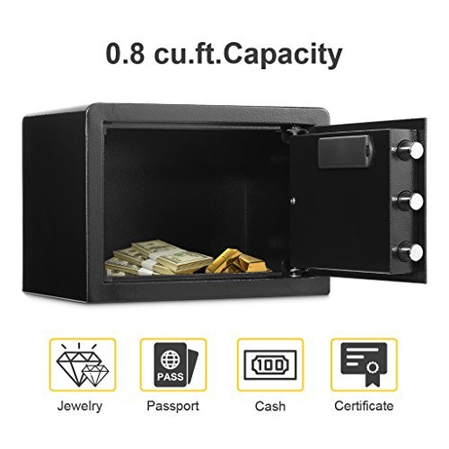 Picture of an Electronic Digital Security Safe Box 712073134093