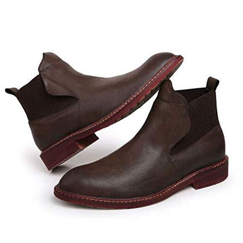 Sicurezza Sicurezza Sicurezza Plus Top Top Top Cotone Boots Pelle di Velluto E Classico Matrimonio Nero Inverno High Brogue Chelsea Stivali Autunno Uomo Stivali Brown qpfTwwX