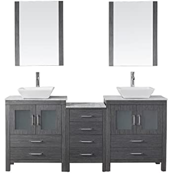 Virtu USA KDWMZG Modern Inch Double Sink Bathroom Vanity - 66 inch bathroom vanity